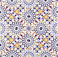 Wall tiles from Morocco