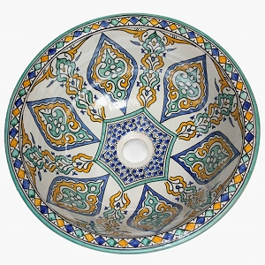 Soudiba - Hand painted moroccan design sink