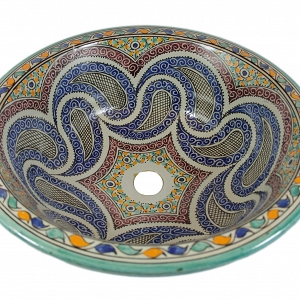 Aisa - Hand painted design sink