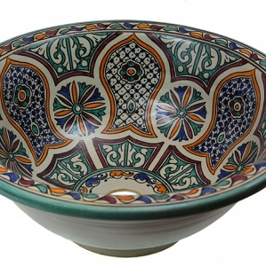 Azamat - Hand painted moroccan sink