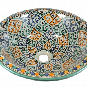 Talia - Hand painted design sink from Morocco