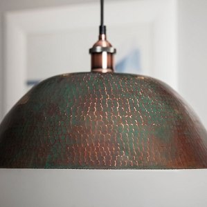 Copper lamps from Mexico