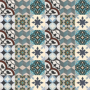 Patchwork - cement mosaic tiles