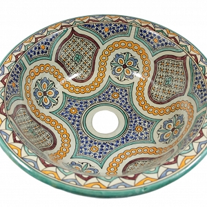 Zanya - Pottery Overtop Sink from Morocco