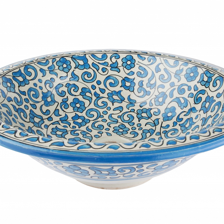 Badra   Hand Painted Sink From Morocco