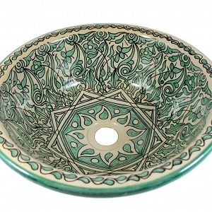 Hamza - Hand painted moroccan sink