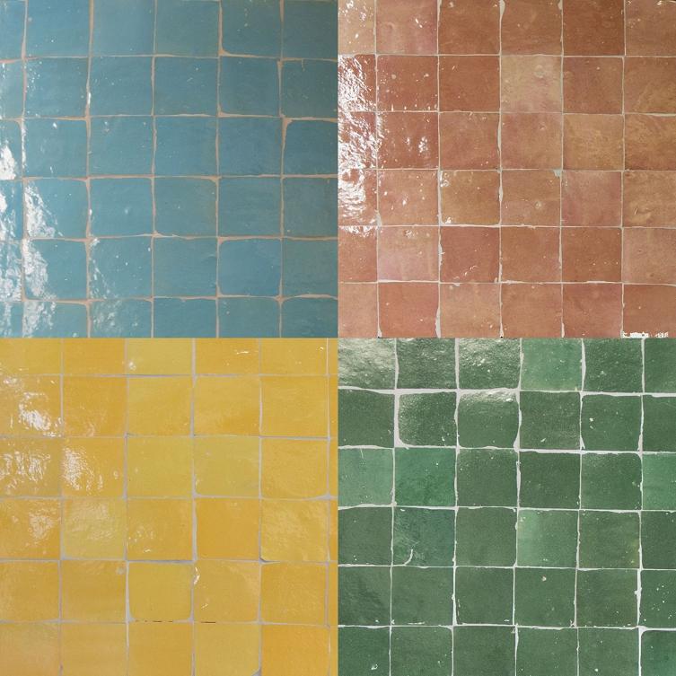 Moroccan zellige tiles