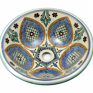 Habibi - Colorful Sink from oriental Morocco