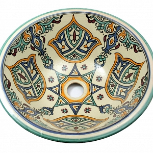 Shaam - Colorful Sink from oriental Morocco