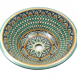 Taza - Hand painted moroccan design sink