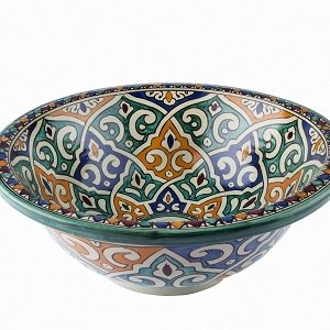 Talia - Hand painted design sink from Morocco II