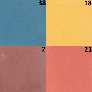 One-colored cement tiles