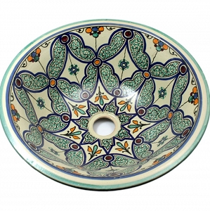 Feta  - Colorful Sink from oriental Morocco