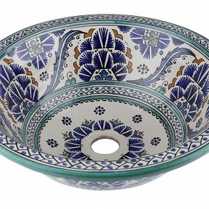 Sishia - Blue Pottery Sink from Morocco