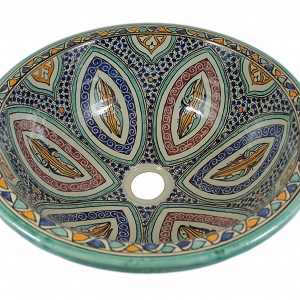 Mayma - Hand painted moroccan sink