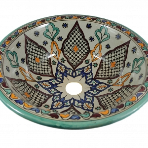 Kama - Hand painted design sink  from Morocco
