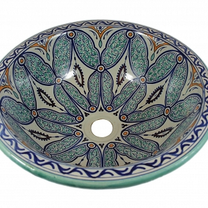 Ruqya - Hand painted moroccan design sink